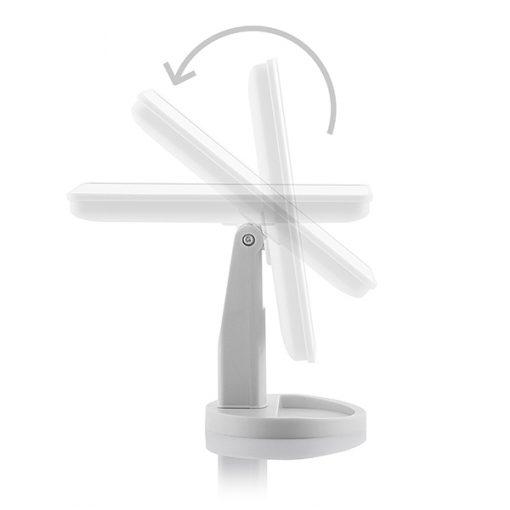 Sminkspegel med LED-belysning och touch-knapp