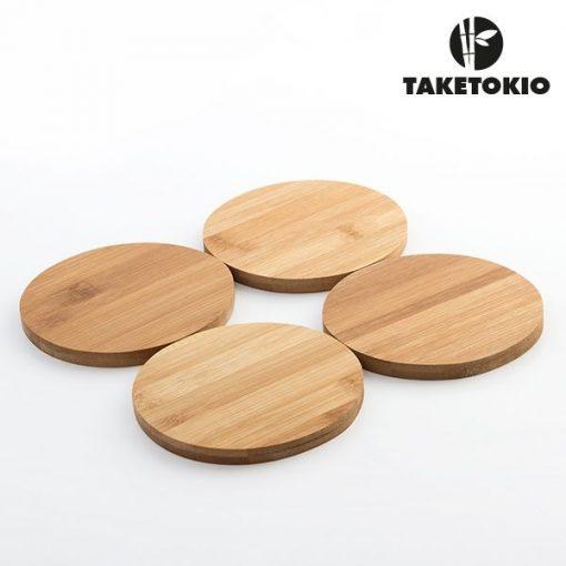 Bordsunderlägg i bambu - 4 stycken