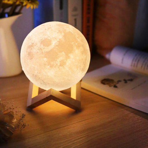 Uppladdningsbar nattlampa måne
