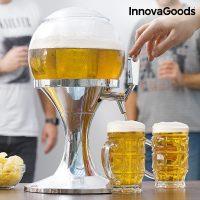 Kylande öl dispenser klotformad